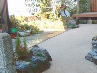 自然土舗装材(マサファルト)